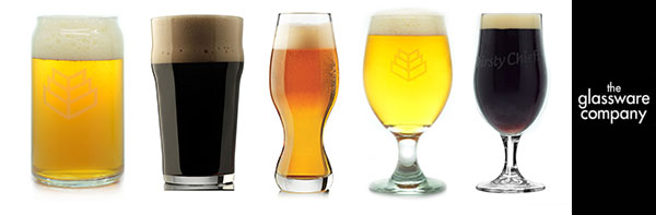 custom logo beer glasses