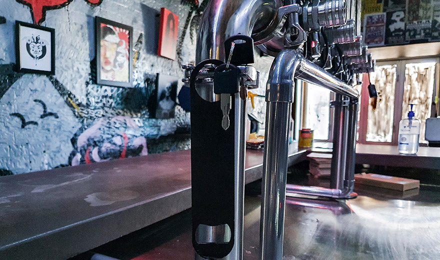 digital beer decal chrome cable management
